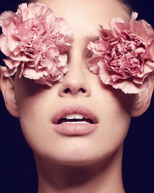 éditorial beauté  nude fleurs flowers