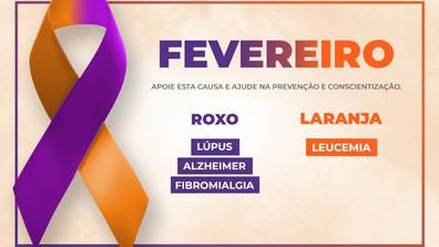 FEVEREIRO - ROXO / LARANJA