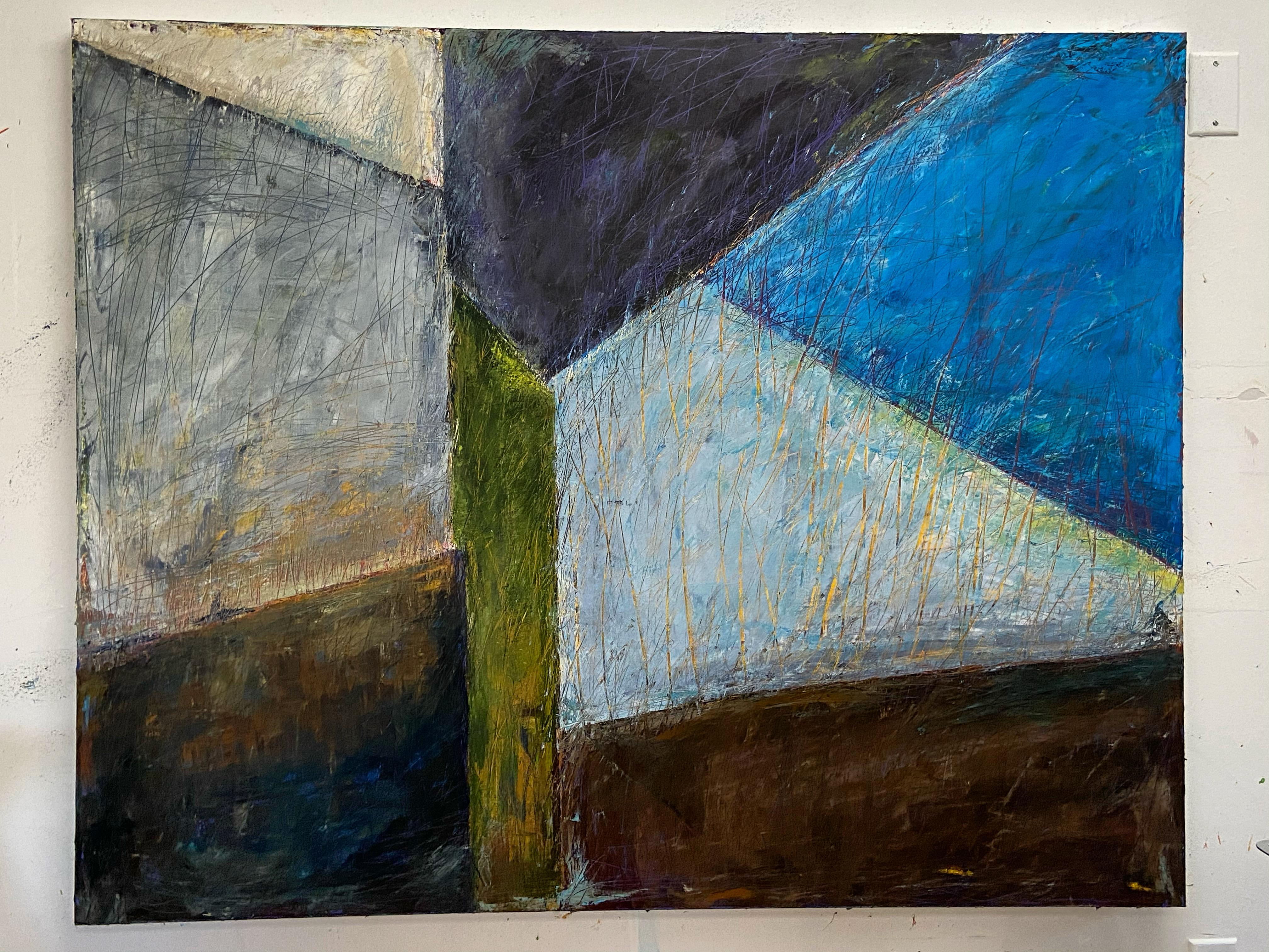 "Iceland, 48""x 60"" Oil on canvas"