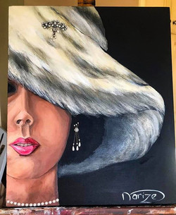 Hat lady - SOLD