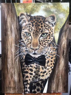 Leopard - 18 x 24 inches, acrylic on can