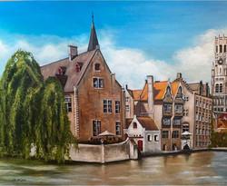 Belgium canal scene