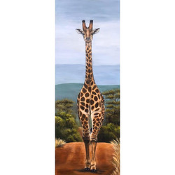 Giraffe - 16 x 48 inches, acrylic on can