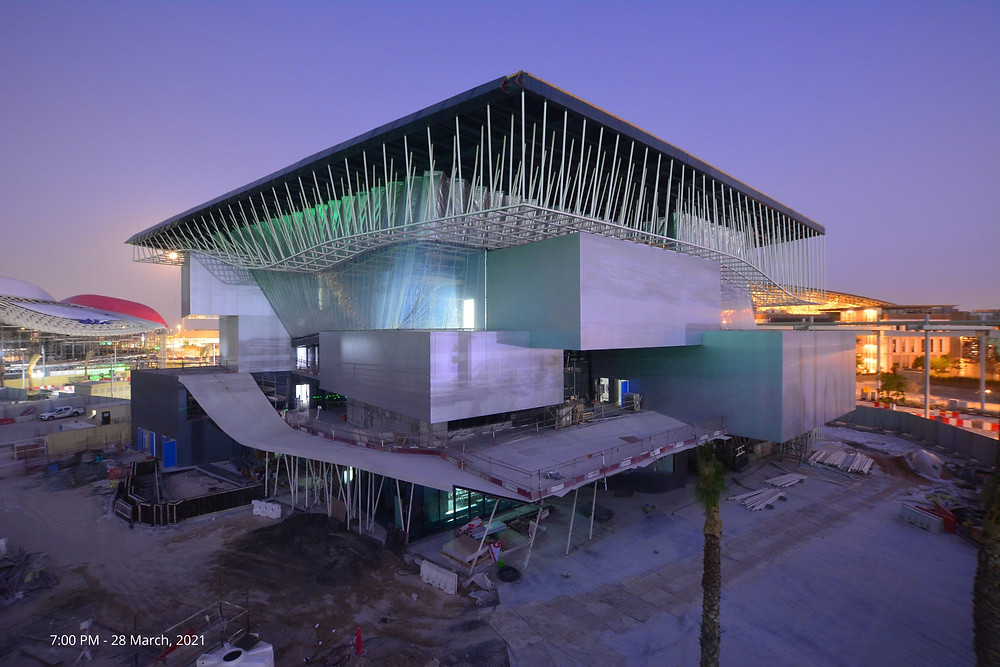 View of the German Pavilion at the end of March 2021