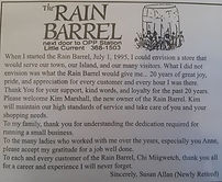 th rain barrel store history