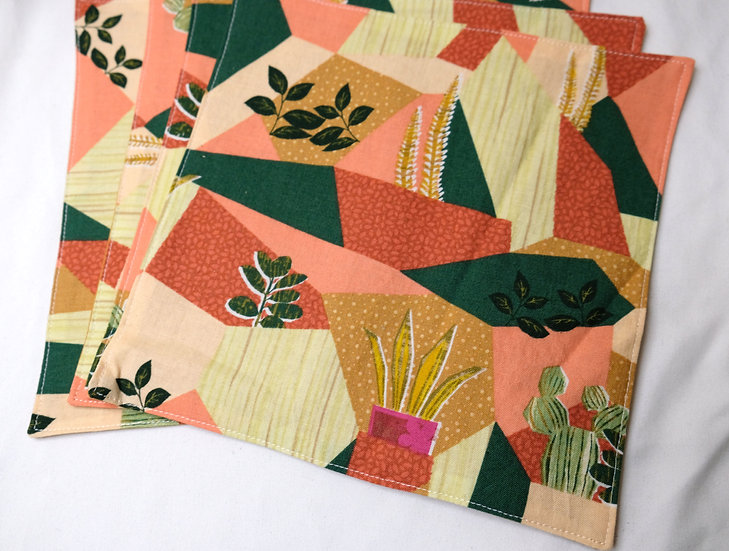 Geometric Plants - Cloth Napkins