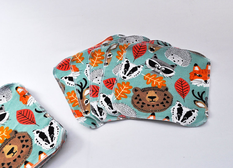 Cute Woodland Animals - Reusable Wipes/Hankies