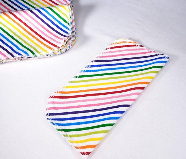 Rainbow Stripes - Reusable Wipes/Hankies