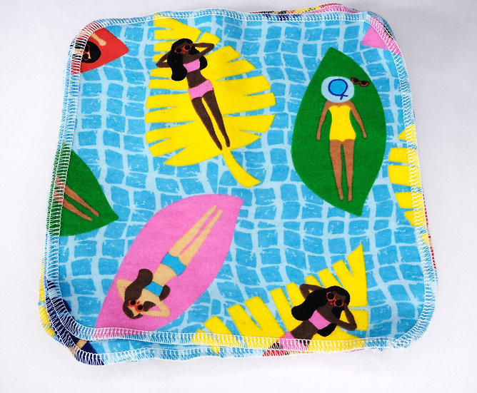 Floating on the Pool- Reusable Wipes/Hankies