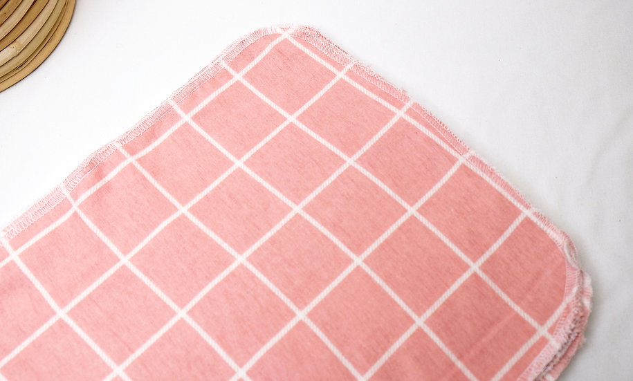 Pink Windowpane - Paperless Kitchen Towels