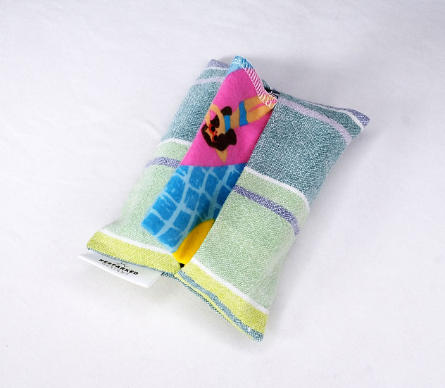 Green & Blue Striped Travel Hankie Set