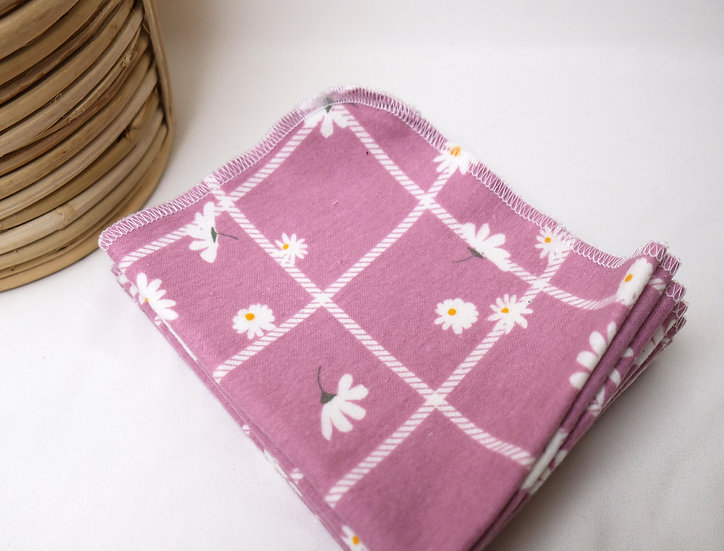Daisies on Windowpane, Purple - Paperless Kitchen Towels