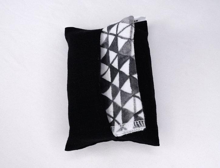 Linen, Black - Travel Hankie Set