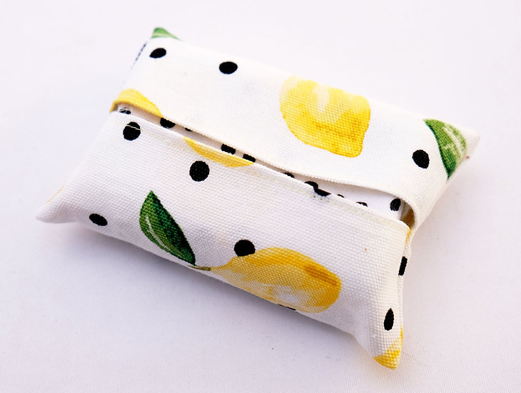 Lemon Polka Dots - Travel Hankie Set