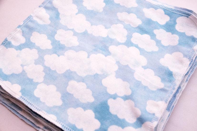 Watercolor Clouds - Reusable Wipes/Hankies