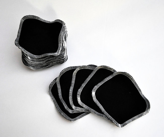 Facial Rounds, Set of 5 - Solid Black