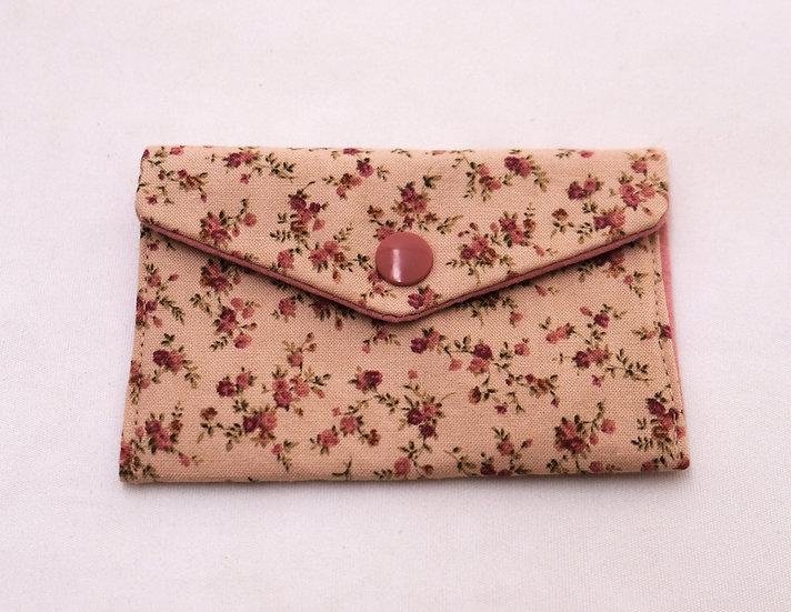 Beige Botanical Fabric Wallet
