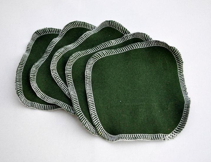 Dark Green - Facial Rounds Set of 5