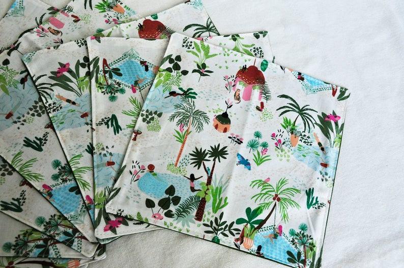 Fun Tropical Bathing Cloth Napkins
