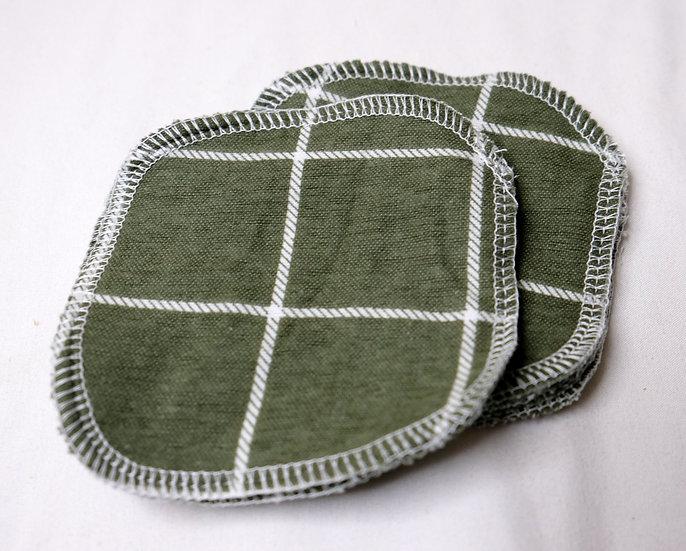 Green Windowpane - Set of 5 Facial Rounds