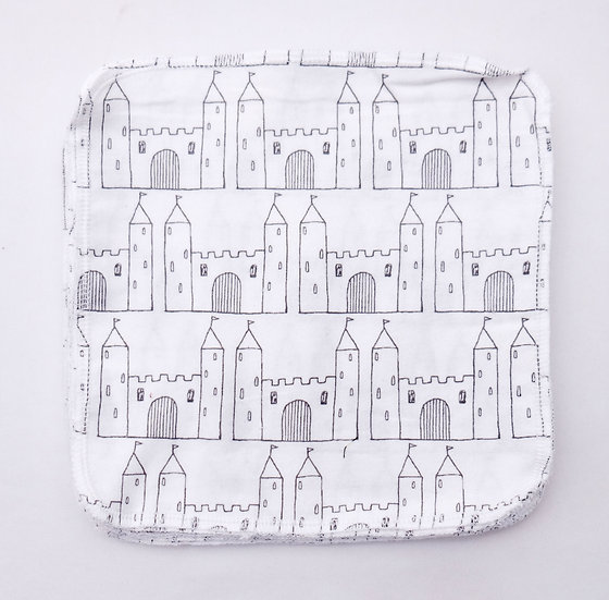 Castle Outlines - Reusable Wipes/Hankies