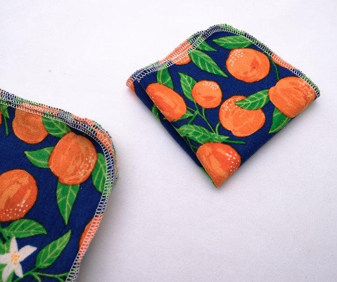 Oranges - Reusable Wipes/Hankies