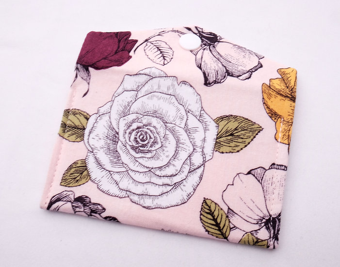 Pink Botanical Fabric Wallet