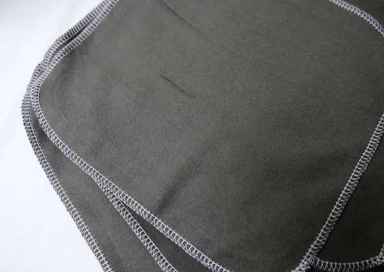 Dark Gray Solid Print - Reusable Wipes/Hankies