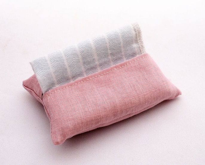 Pink Linen - Travel Hankie Set