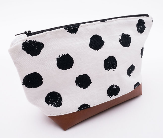 Polka Dots - Flat Bottom Zipper Pouch