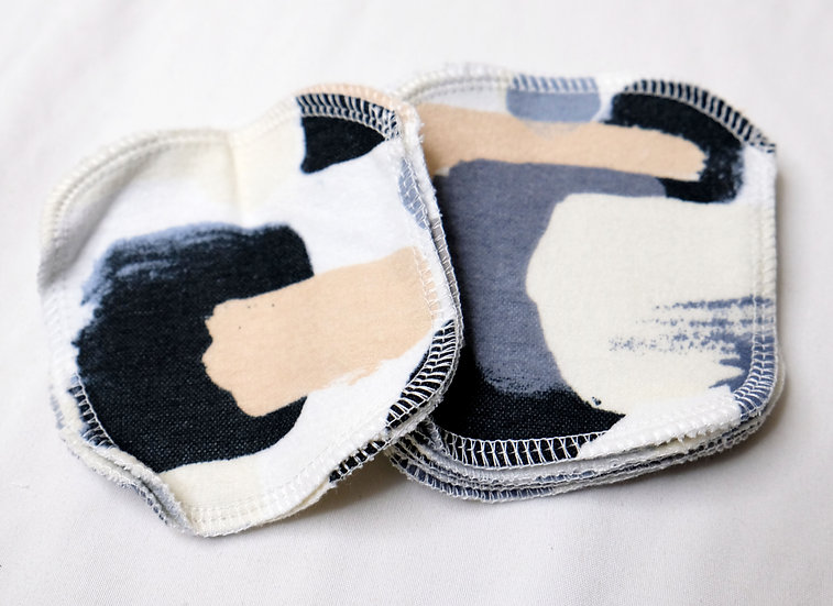 Abstract Modern Paint - Sets of 5 Facial Rounds