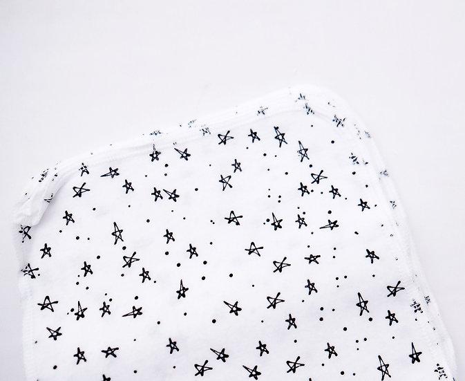 Black Stars- Reusable Wipes/Hankies