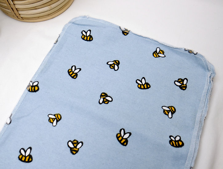 Small Bees on Blue - Paperless Kitchen Towels