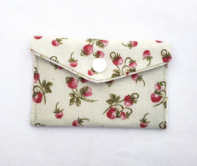 Strawberries Fabric Wallet