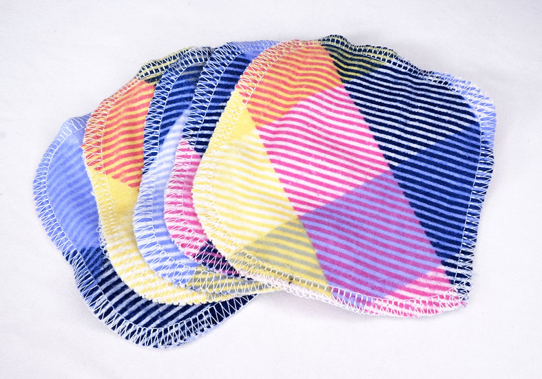 Purple, Pink, and Yellow Stripes - Set of 5 Facial Rounds