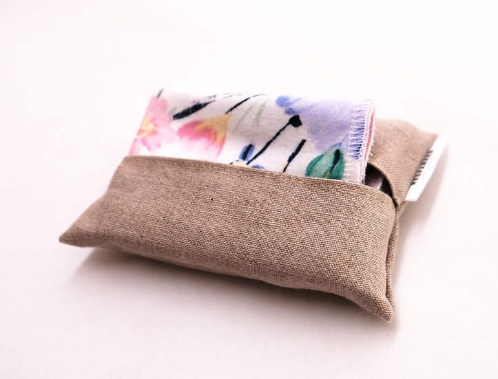 Linen, Natural Color - Travel Hankie Set