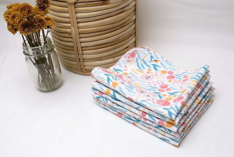 Pastel Flowers - Paperless Kitchen Towels