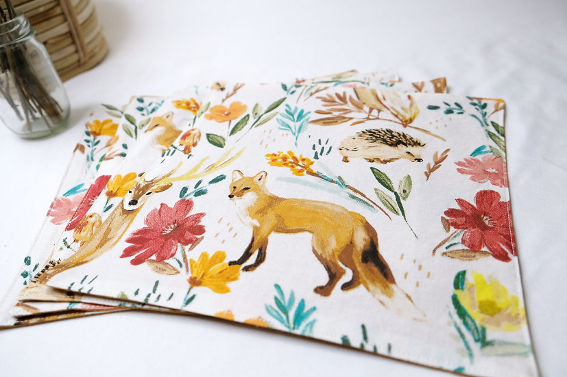 Fox and Friends - Cloth Napkins