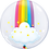 """Thumbnail: Personalised Rainbow 24"""" Gumball Bubble Balloon Gift"""