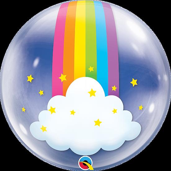 "Personalised Rainbow 24"" Gumball Bubble Balloon Gift"