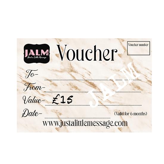 § £15 Gift Voucher