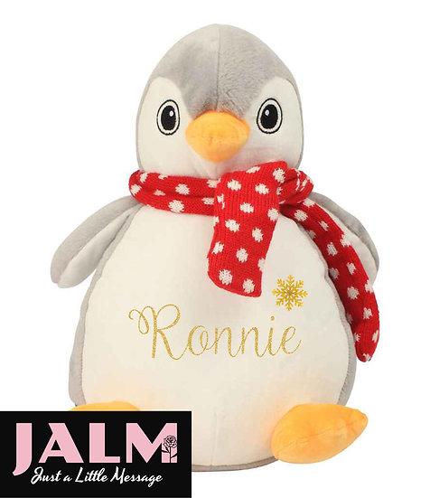 Personalised Penguin Pyjama Case/Soft Toy