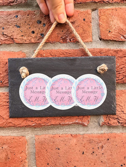 Etched Slate Signs