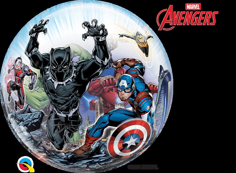 "Personalised Avengers 22"" Gumball Bubble Balloon Gift"