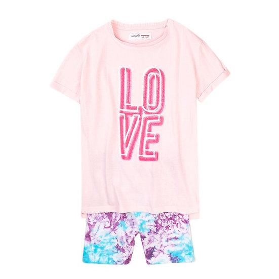 § Neon LOVE Top & Short Set