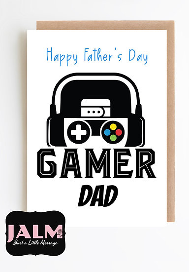 Father's Day Card- Gamer Dad