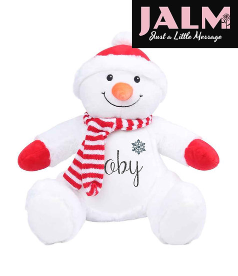 Personalised Snowman Pyjama Case/Soft Toy