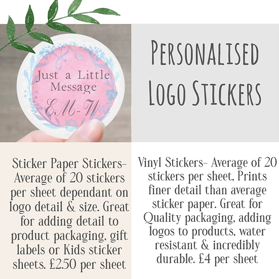 Personalised Logo Stickers