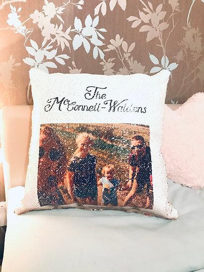 Secret Reveal Sequin Cushion