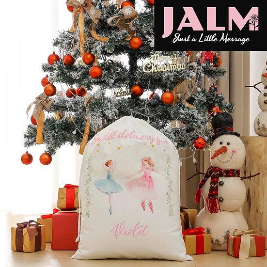 Ballerina Personalised Christmas Sack